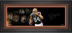 Jordan Cameron Cleveland Browns Framed Autographed 10'' x 30'' Filmstrip Photograph - Mounted Memories