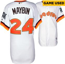 Cameron Maybin San Diego Padres Game Used 1984 Throwback Jersey from 5/22/14 vs Chicago Cubs