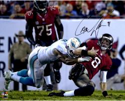 """Cameron Wake Miami Dolphins Autographed 16"""" x 20"""" Tackle vs. Tampa Bay Buccaneers Photograph"""