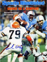 Earl Campbell Houston Oilers Autographed Sports Illustrated Magazine with HOF 91 Inscription - Mounted Memories