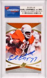Earl Campbell Texas Longhorns Autographed 2013 Upper Deck SPX #30 Card with HT 77 Inscription