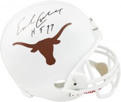 Earl Campbell Texas Longhorns Autographed Riddell Replica Helmet with HT 77 Inscription - Mounted Memories