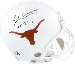 Earl Campbell Texas Longhorns Autographed Authentic Riddell Pro-Line Authentic Helmet with HT 77 Inscription - Mounted Memories