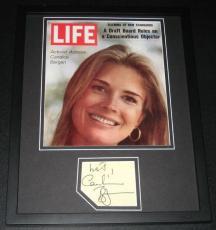 Candice Bergen Signed Framed 11x14 Photo Display JSA Murphy Brown