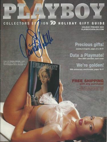 Candice Michelle Signed 2003 Playboy Catalog Magazine PSA/DNA COA WWE Diva Guide