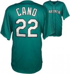 Robinson Cano Autographed Mariners Replica Green Jersey