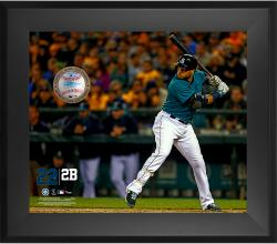 Robinson Cano Seattle Mariners Framed 20'' x 24'' Gamebreaker Photograph with Game-Used Ball - Mounted Memories