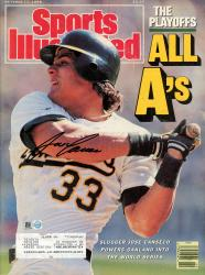 CANSECO, JOSE AUTO (10/17/88)(MLB) SPORTS ILLUSTRATED - Mounted Memories