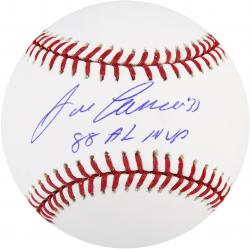 Jose Canseco Oakland Athletics Autographed Baseball with 88 AL MVP Inscription - Mounted Memories