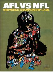 "1968 Packers vs Raiders 22"" x 30"" Canvas Super Bowl II Program"
