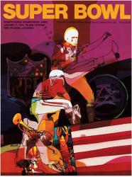 "1970 Chiefs vs Vikings 22"" x 30"" Canvas Super Bowl IV Program"