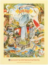 "1984 Raiders vs Redskins 22"" x 30"" Canvas Super Bowl VXIII Program"