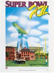 "1978 Cowboys vs Broncos 22"" x 30"" Canvas Super Bowl XII Program"