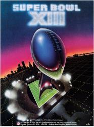 "1979 Steelers vs Cowboys 22"" x 30"" Canvas Super Bowl XIII Program"