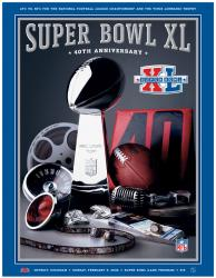 "2006 Steelers vs Seahawks 22"" x 30"" Canvas Super Bowl XL Program"