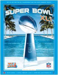 "2007 Colts vs Bears 22"" x 30"" Canvas Super Bowl XLI Program"