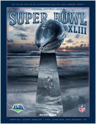 "2009 Steelers vs Cardinals 22"" x 30"" Canvas Super Bowl XLIII Program"