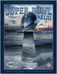 "2009 Steelers vs Cardinals 22"" x 30"" Canvas Super Bowl XLIII Program"