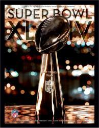 "2010 Saints vs Colts 22"" x 30"" Canvas Super Bowl XLIV Program"