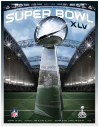 "2011 Packers vs Steelers 22"" x 30"" Canvas Super Bowl XLV Program"