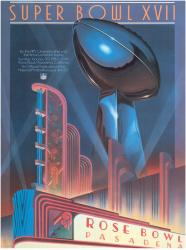 "1983 Redskins vs Dolphins 22"" x 30"" Canvas Super Bowl XVII Program"