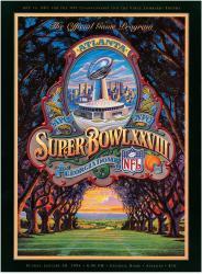 "1994 Cowboys vs Bills 22"" x 30"" Canvas Super Bowl XXVIII Program"