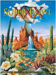 "1996 Cowboys vs Steelers 22"" x 30"" Canvas Super Bowl XXX Program"
