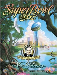 """1997 Packers vs Patriots 22"""" x 30"""" Canvas Super Bowl XXXI Program"""