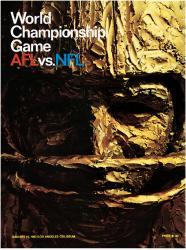 "1967 Packers vs Chiefs 36"" x 48"" Canvas Super Bowl I Program"