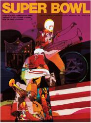 "1970 Chiefs vs Vikings 36"" x 48"" Canvas Super Bowl IV Program"