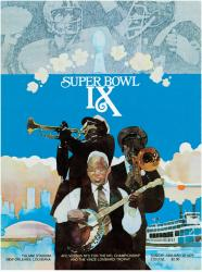 "1975 Steelers vs Vikings 36"" x 48"" Canvas Super Bowl IX Program"