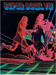 "1973 Dolphins vs Redskins 36"" x 48"" Canvas Super Bowl VII Program"
