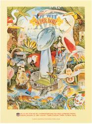 "1984 Raiders vs Redskins 36"" x 48"" Canvas Super Bowl VXIII Program"