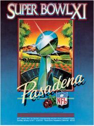 """1977 Raiders vs Vikings 36"""" x 48"""" Canvas Super Bowl XI Program"""