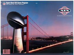 "1985 49ers vs Dolphins 36"" x 48"" Canvas Super Bowl XIX Program"