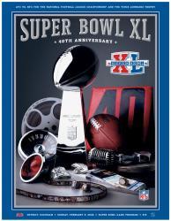 "2006 Steelers vs Seahawks 36"" x 48"" Canvas Super Bowl XL Program"