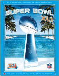 "2007 Colts vs Bears 36"" x 48"" Canvas Super Bowl XLI Program"
