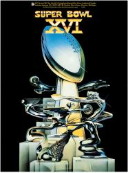 "1982 49ers vs Bengals 36"" x 48"" Canvas Super Bowl XVI Program"
