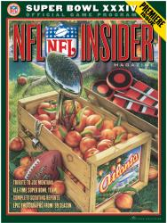 "2000 Rams vs Titans 36"" x 48"" Canvas Super Bowl XXXIV Program"