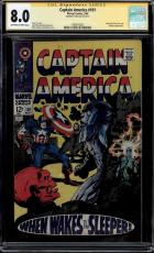 Captain America #101 Cgc 8.0 Oww Ss Stan Lee Red Skull Cover Cgc #1508473022