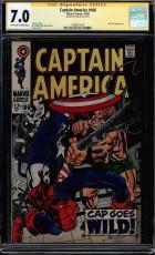 Captain America #106 Cgc 7.0 Oww Ss Stan Lee Signed Cgc #1508472016