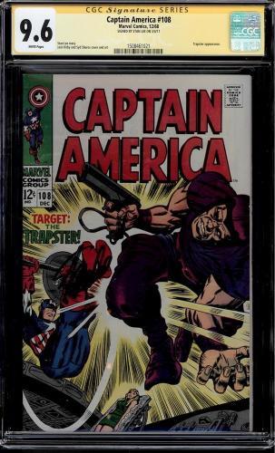 Captain America #108 Cgc 9.6 White Ss Stan Lee Trapster App Cgc #1508461021