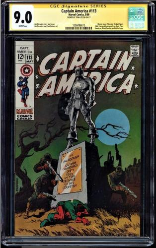 Captain America #113 Cgc 9.0 White Ss Stan Lee Classic Cover Cgc #1508496015