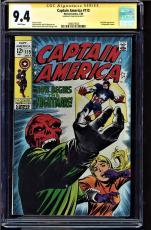Captain America #115 Cgc 9.4 White Ss Stan Lee Red Skull App Cgc #1508473020
