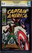 Captain America #117 Cgc 8.5 Stan Lee Ss Stan Lee Org 1st App Falcon #1197120007