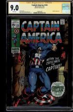 Captain America #125 Cgc 9.0 White Ss Stan Lee Mandarin App Cgc #1508461007
