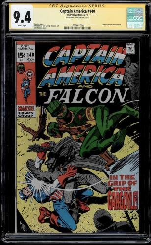 Captain America #140 Cgc 9.4 White Ss Stan Lee Grey Gargoyle App Cgc #1508461008