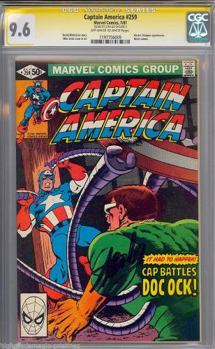 Captain America # 259 Cgc 9.6 Ss Stan Lee Single Highest Graded Cgc #1197756009