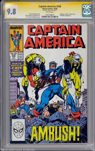 Captain America #346 Cgc 9.8 Stan Lee Ss Single Highest Graded Cgc #1197736017