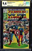 Captain America Annual #1 Cgc 9.4 White Ss Stan Lee Signed Cgc #1227701023